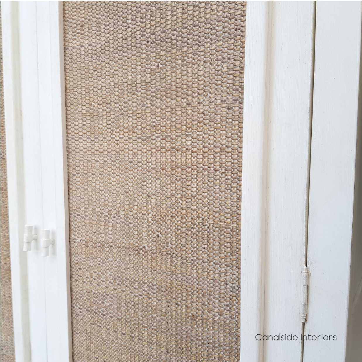 Tweed Hill Rattan Wardrobe Distressed White  BEDROOM, BEDROOM Wardrobes & Armoires, STORAGE, STORAGE Bookshelves & Cupboards, PLANTATION STYLE