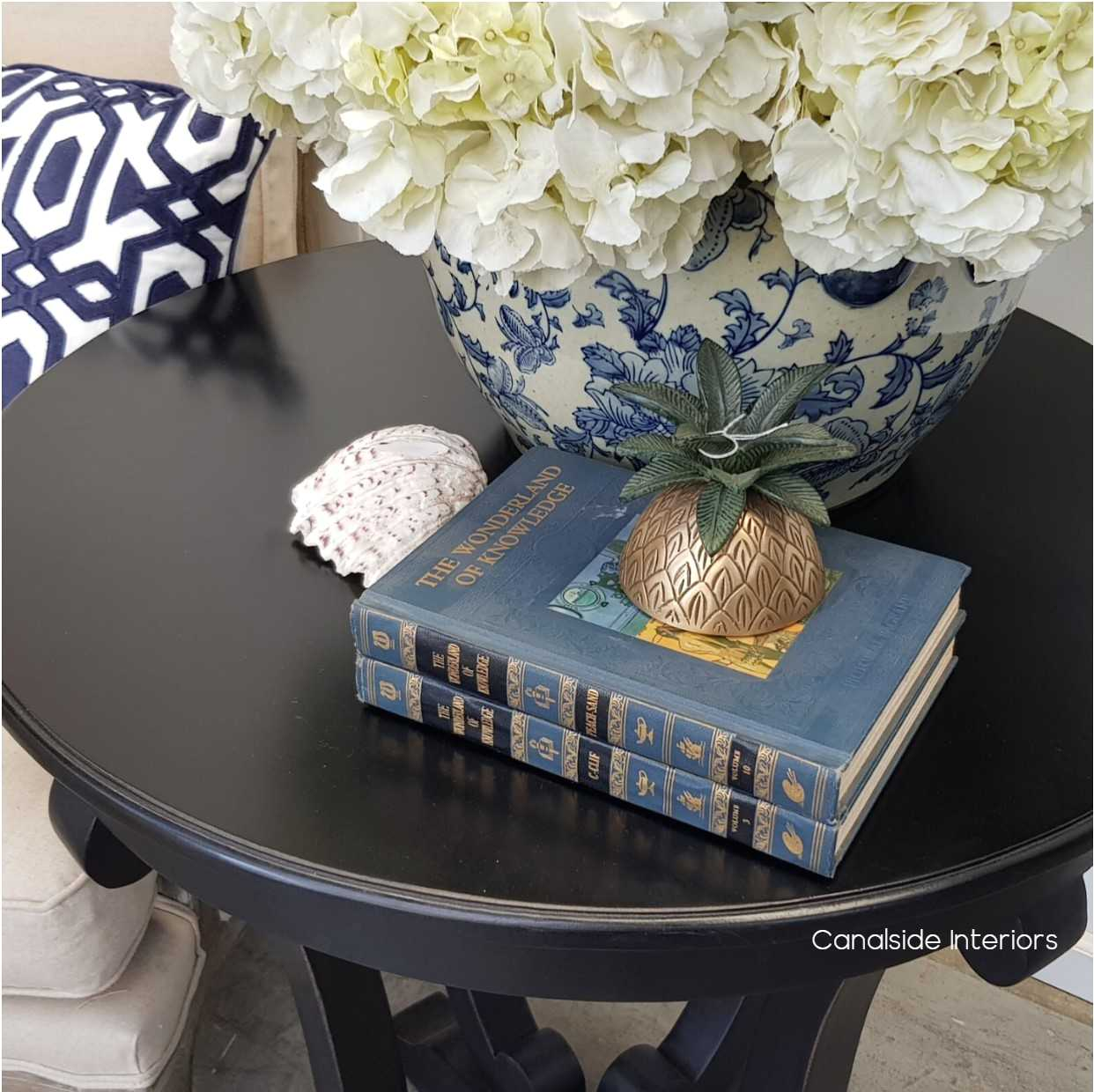 Downton Round Hall Table Side Table Black  FRENCH  FURNITURE, TABLES, HAMPTONS Style, PLANTATION Style, TABLES Side Tables, LIVING Room, LIVING Coffee & Side Tables, PLANTATION STYLE