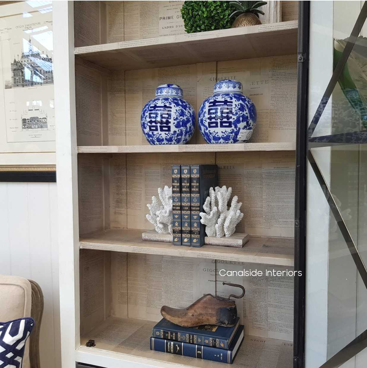 Pavilion Single Door Display Unit Distressed off white  HAMPTONS Style, PLANTATION Style, LIVING Room, LIVING Cupboards & Bookcases, STORAGE, STORAGE Bookshelves & Cupboards