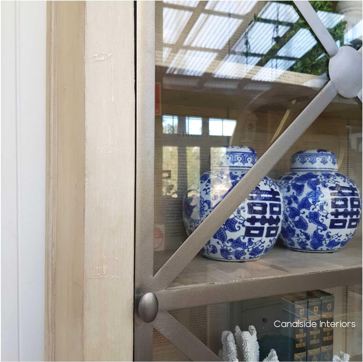 *Pavilion Single Door Display Unit - Distressed Stone- IN STOCK