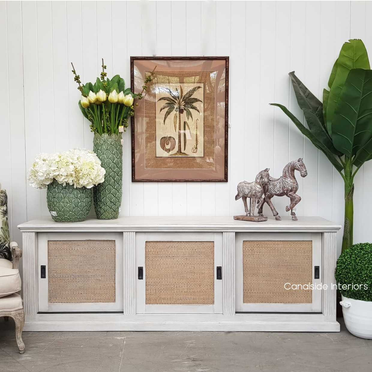 Brielle Rattan Entertainment Unit II for April HAMPTONS Style, PLANTATION Style, LIVING Room, LIVING TV Media & Storage, TABLES Sideboards & Buffets, STORAGE, STORAGE Sideboards & Buffets, PLANTATION STYLE