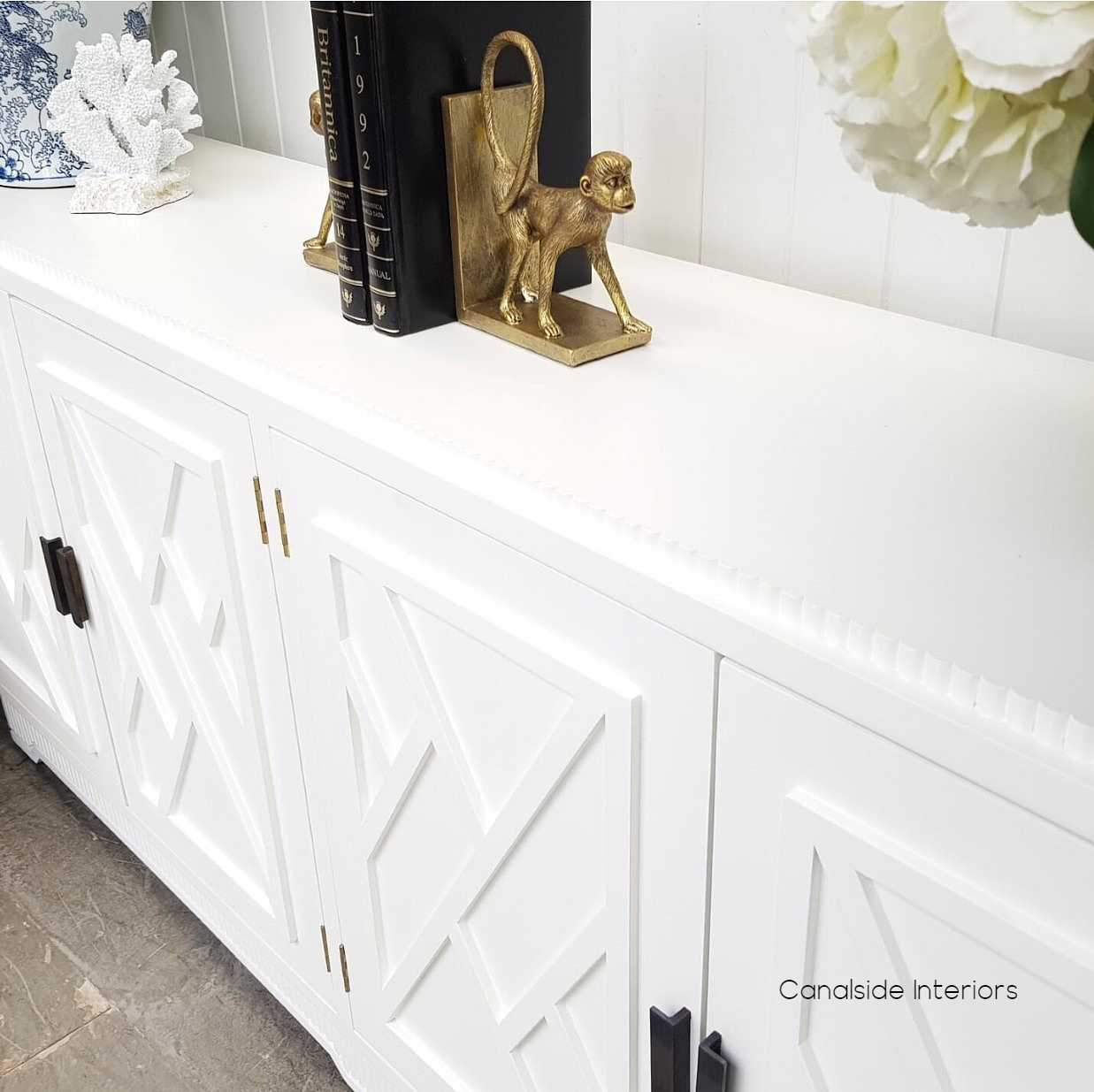 Ellery 4 Door Sideboard White  HAMPTONS Style, PLANTATION Style, LIVING Room, LIVING TV Media & Storage, TABLES Sideboards & Buffets, STORAGE, STORAGE Sideboards & Buffets, PLANTATION STYLE
