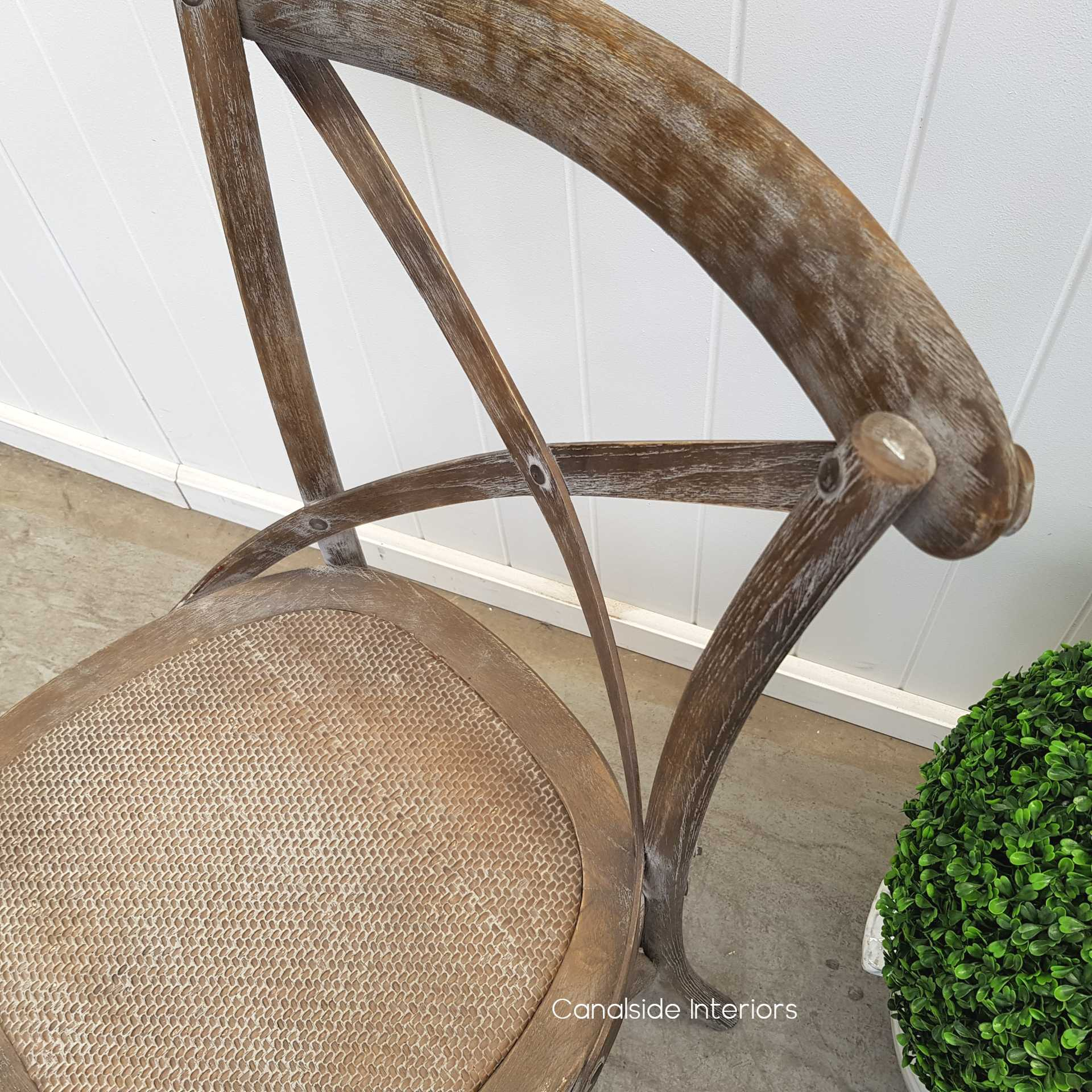 Cross Back Chair Weathered Oak  Dining, CHAIRS, CAFE FURNITURE, HAMPTONS Style, PLANTATION Style, CHAIRS Dining, CAFE FURNITURE Stools & Chairs