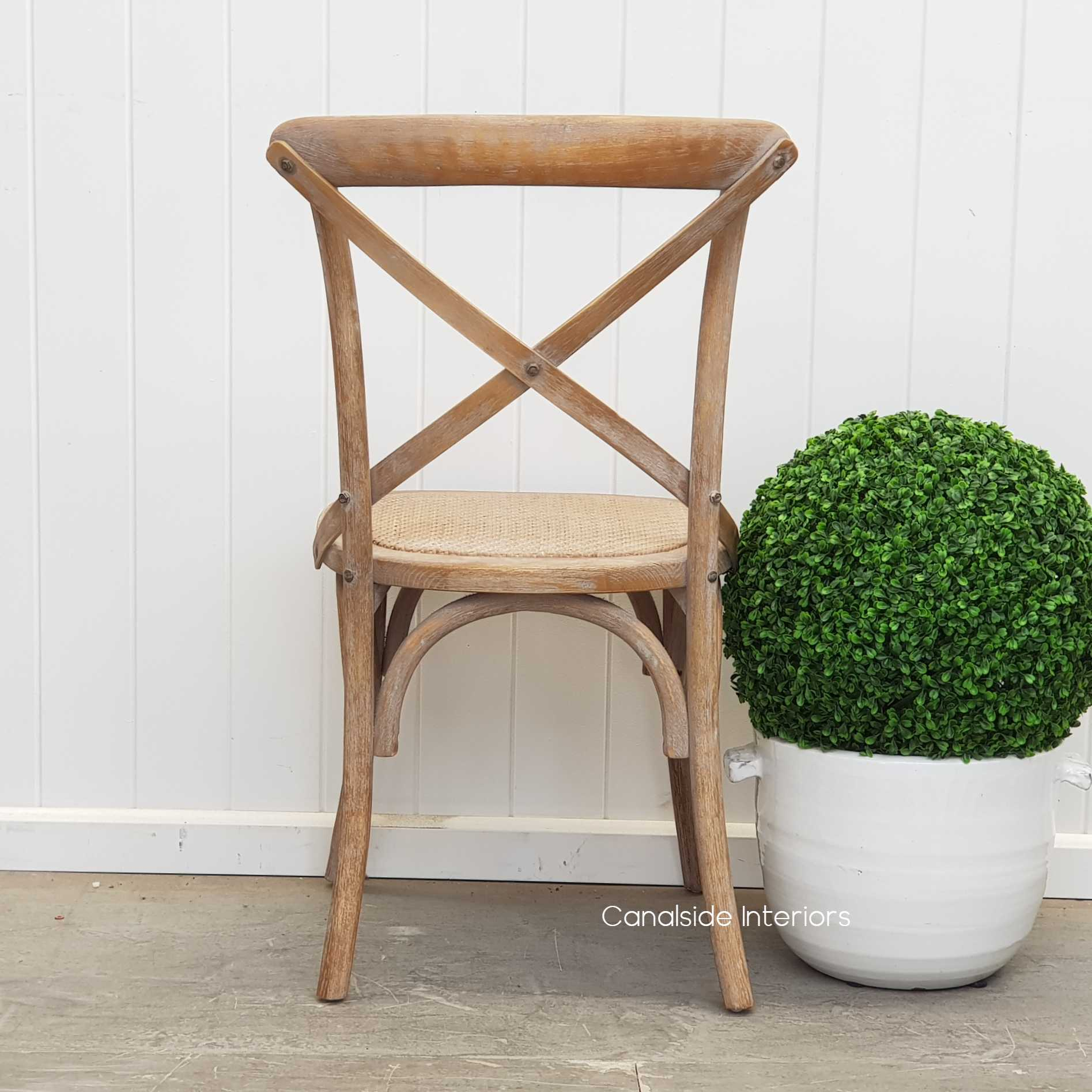 Cross Back Chair Oatmeal  Dining, CHAIRS, CAFE FURNITURE, HAMPTONS Style, PLANTATION Style, CHAIRS Dining, CAFE FURNITURE Stools & Chairs