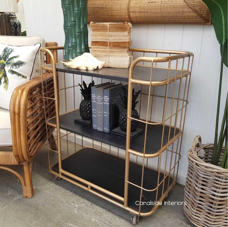 Caged Baker's Rack 3 Tier  INDUSTRIAL RUSTIC Style, CAFE FURNITURE, LIVING Room, LIVING TV Media & Storage, CAFE FURNITURE Storage, STORAGE, STORAGE Bookshelves & Cupboards