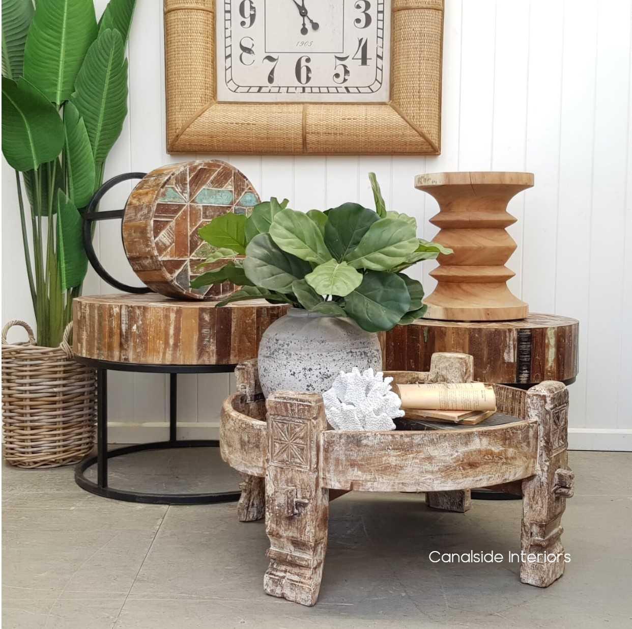 Chakki CoffeeSide Table  INDUSTRIAL RUSTIC Style, CAFE FURNITURE, TABLES, TABLES Coffee Tables, TABLES Side Tables, LIVING Room, LIVING Coffee & Side Tables, CAFE FURNITURE Table Tops & Tables, PLANTATION STYLE