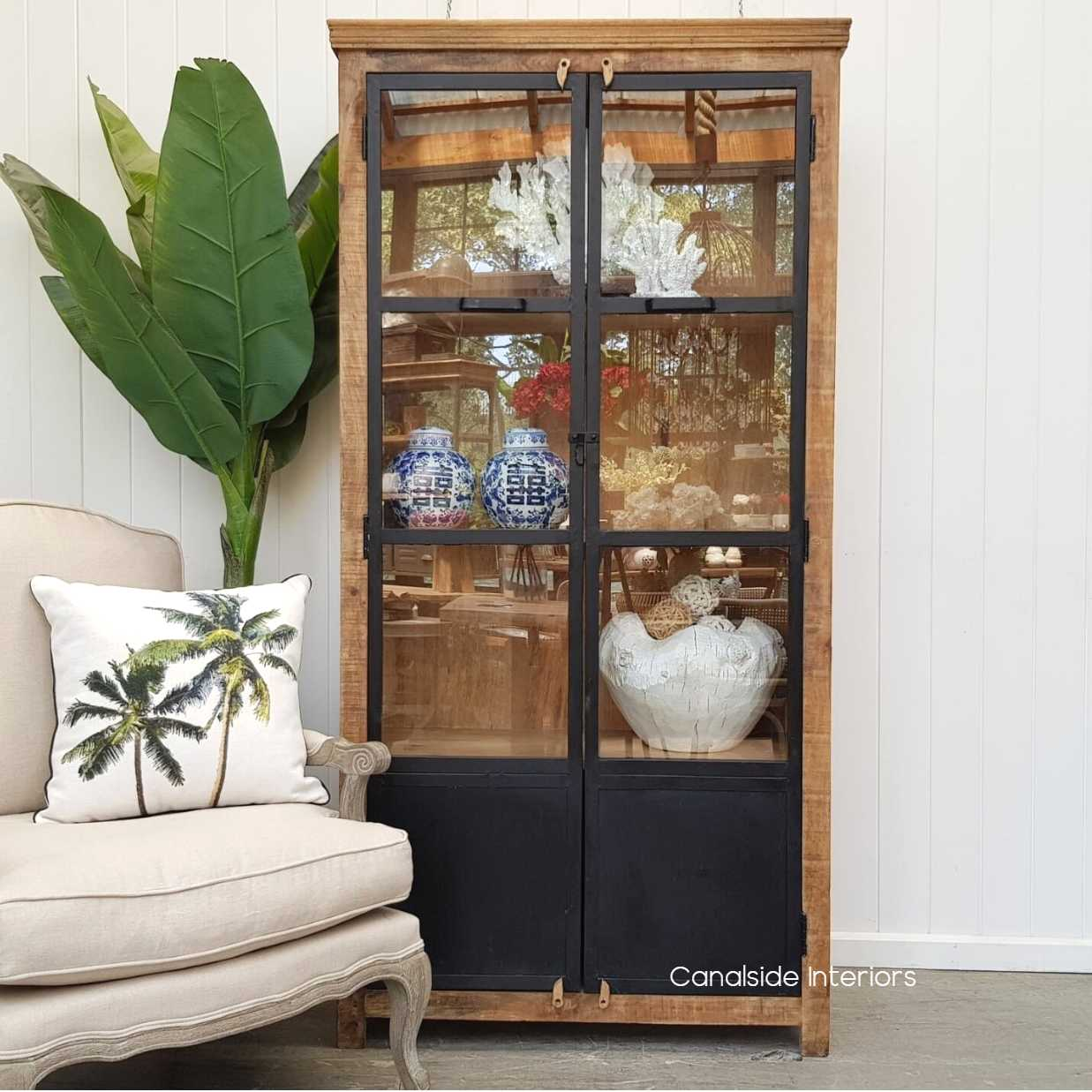 Yorktown Display Cabinet  INDUSTRIAL RUSTIC Style, CAFE FURNITURE, LIVING Room, LIVING Cupboards & Bookcases, CAFE FURNITURE Storage, STORAGE, STORAGE Bookshelves & Cupboards