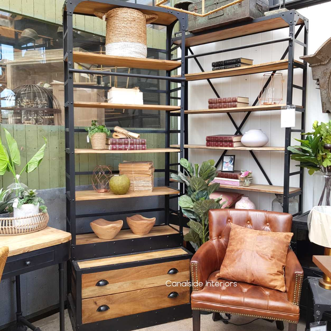 Shipyard 2 Drawer Industrial Shelving Unit Canalside Interiors