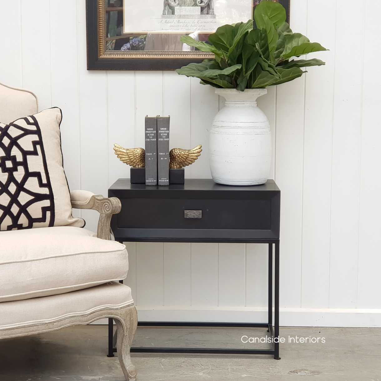 Connor Side Table Charcoalblack Canalside Interiors