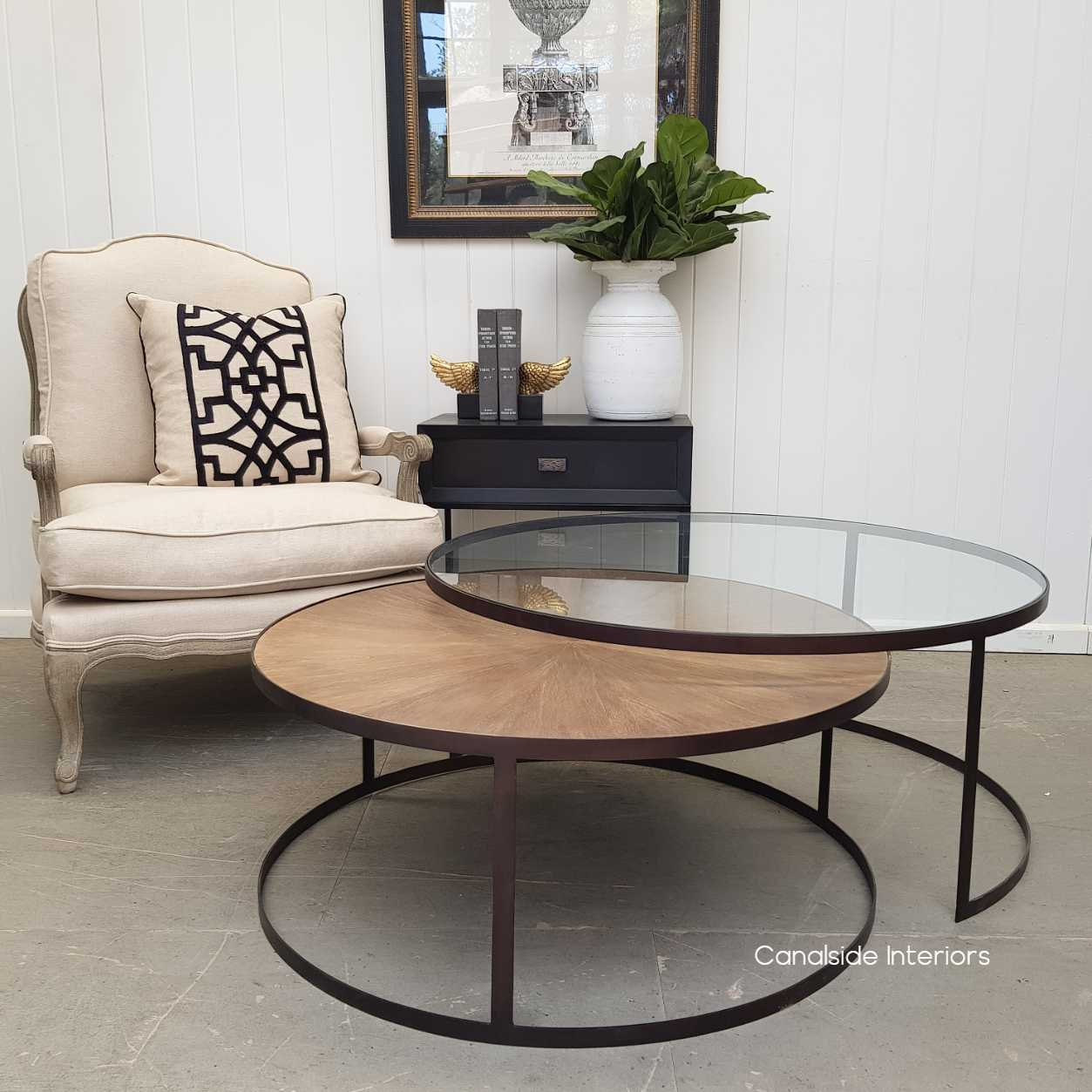 - Bermuda Plantation Nesting Coffee Table - Canalside Interiors