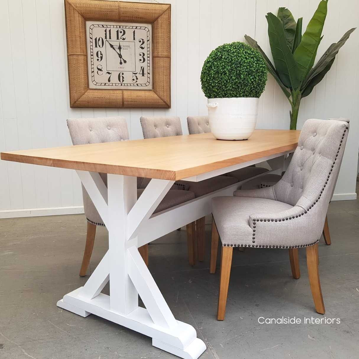 Custom Made Lyon Dining Table Made To Your Size Canalside Interiors