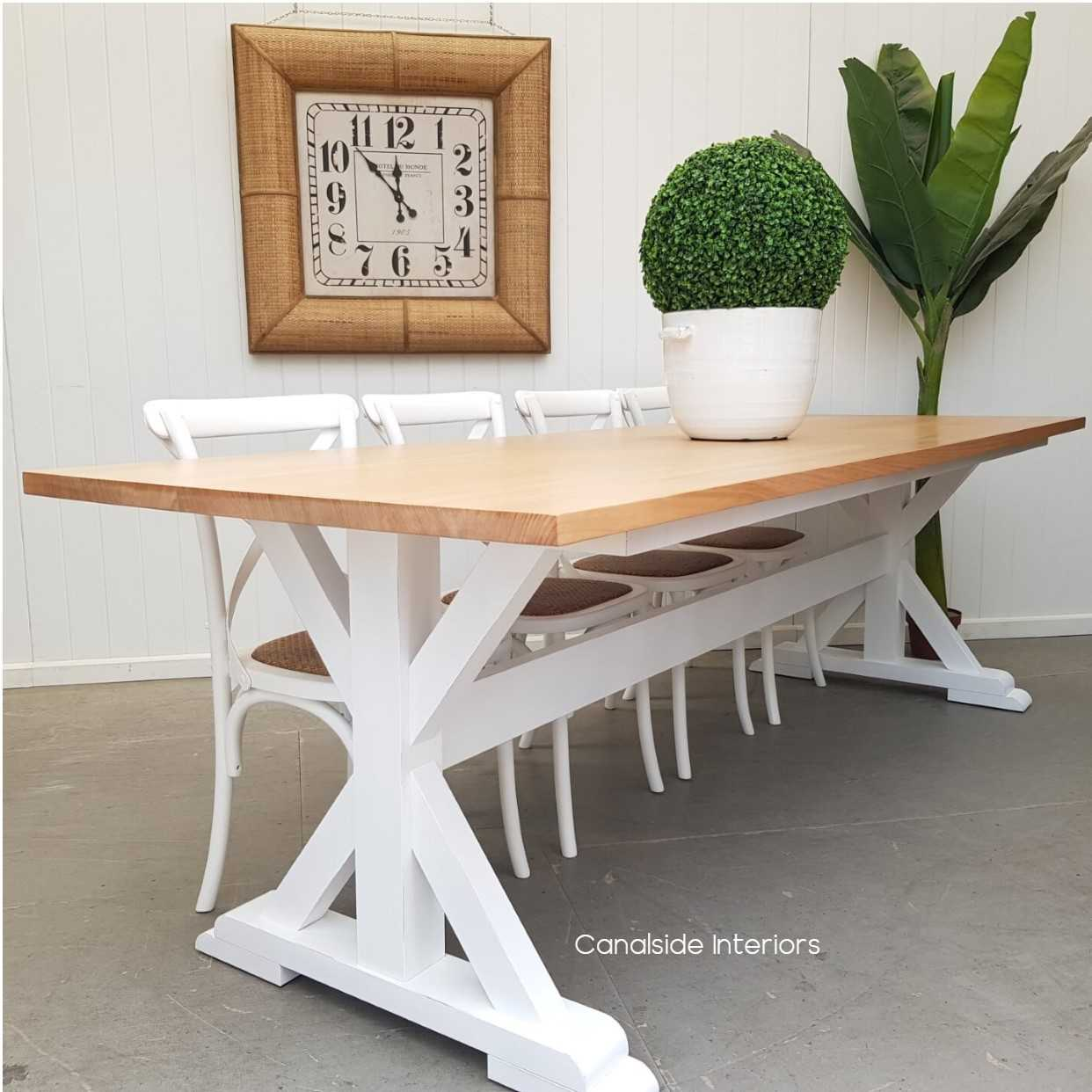 Custom Made Lyon Dining Table MADE TO YOUR SIZE TABLES, HAMPTONS Style, PLANTATION Style, TABLES Dining Tables