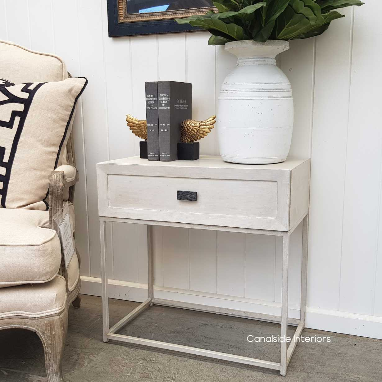 Connor Side Table Stone  BEDROOM, HAMPTONS Style, PLANTATION Style, TABLES Side Tables, LIVING Room, LIVING Coffee & Side Tables, BEDROOM Bedsides