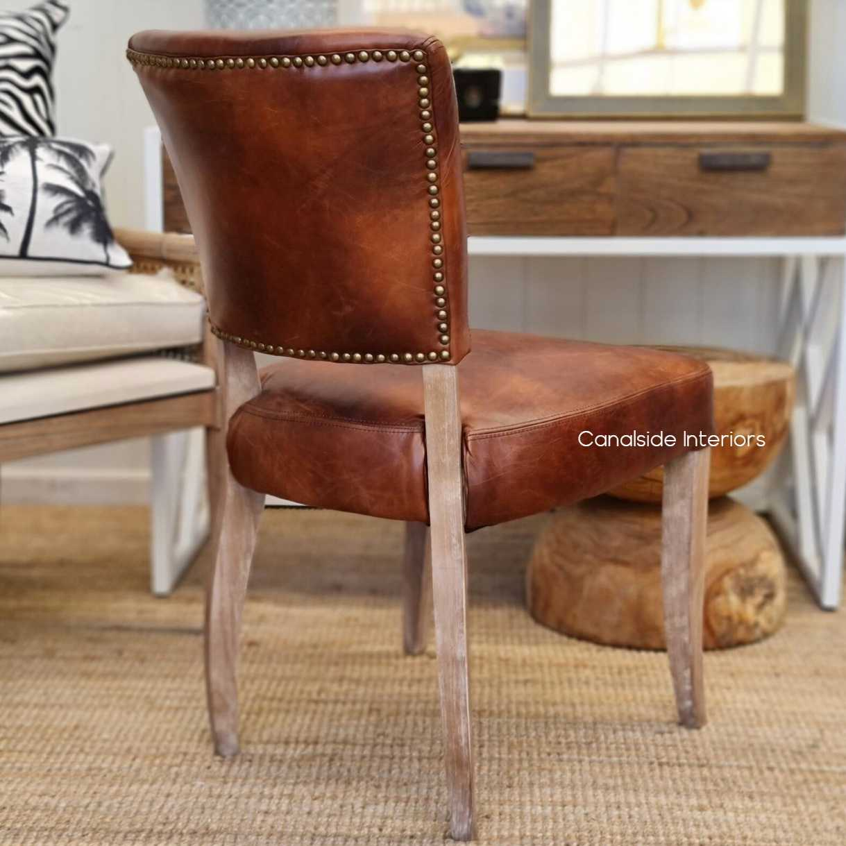 Cuba Aged Leather Dining Chairs Weathered Oak Legs Dining, CHAIRS, AGED LEATHER, CHAIRS Dining