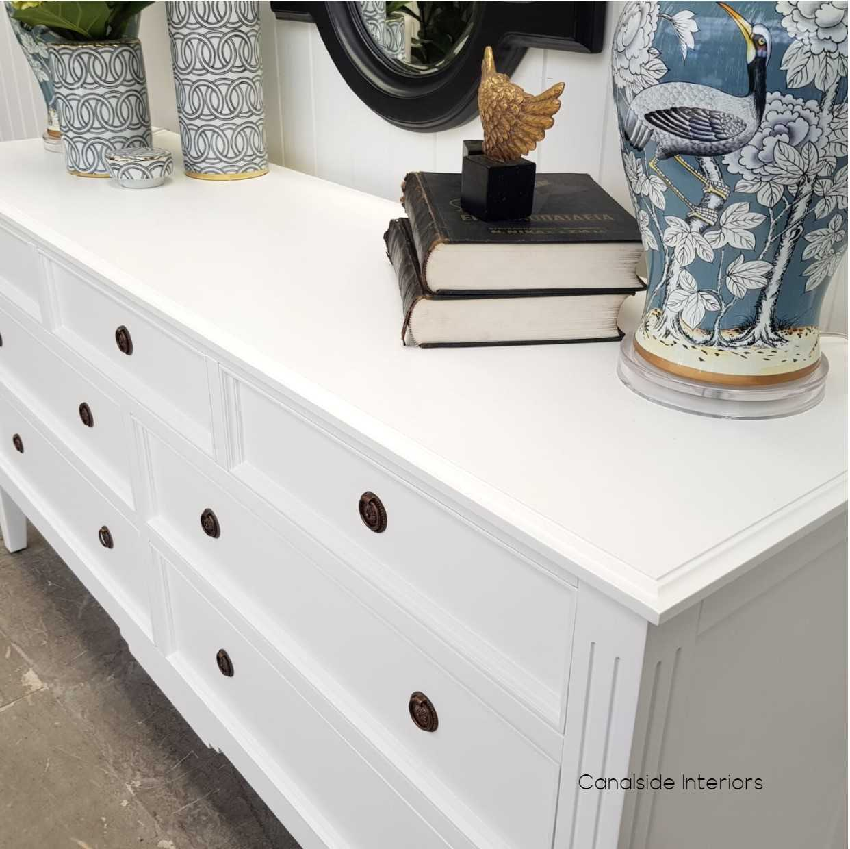 Peninsula 7 Drawer Chest White  BEDROOM, BEDROOM Chests & Commodes