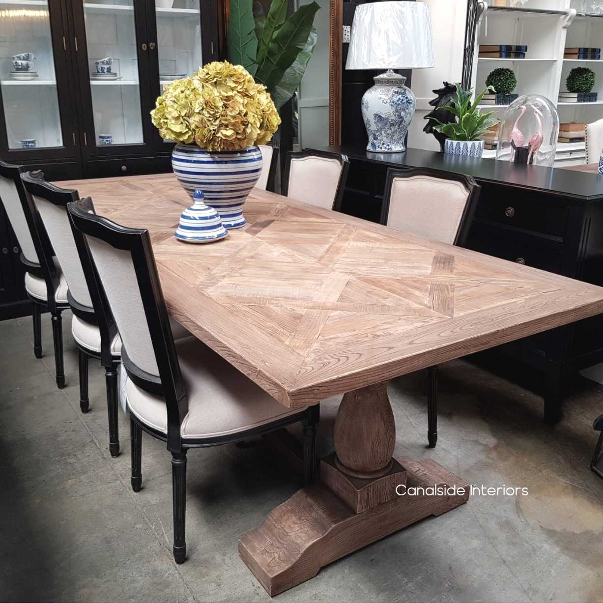 Boathouse Rustic Parquetry Dining Table  TABLES, HAMPTONS Style, PLANTATION Style, TABLES Dining Tables