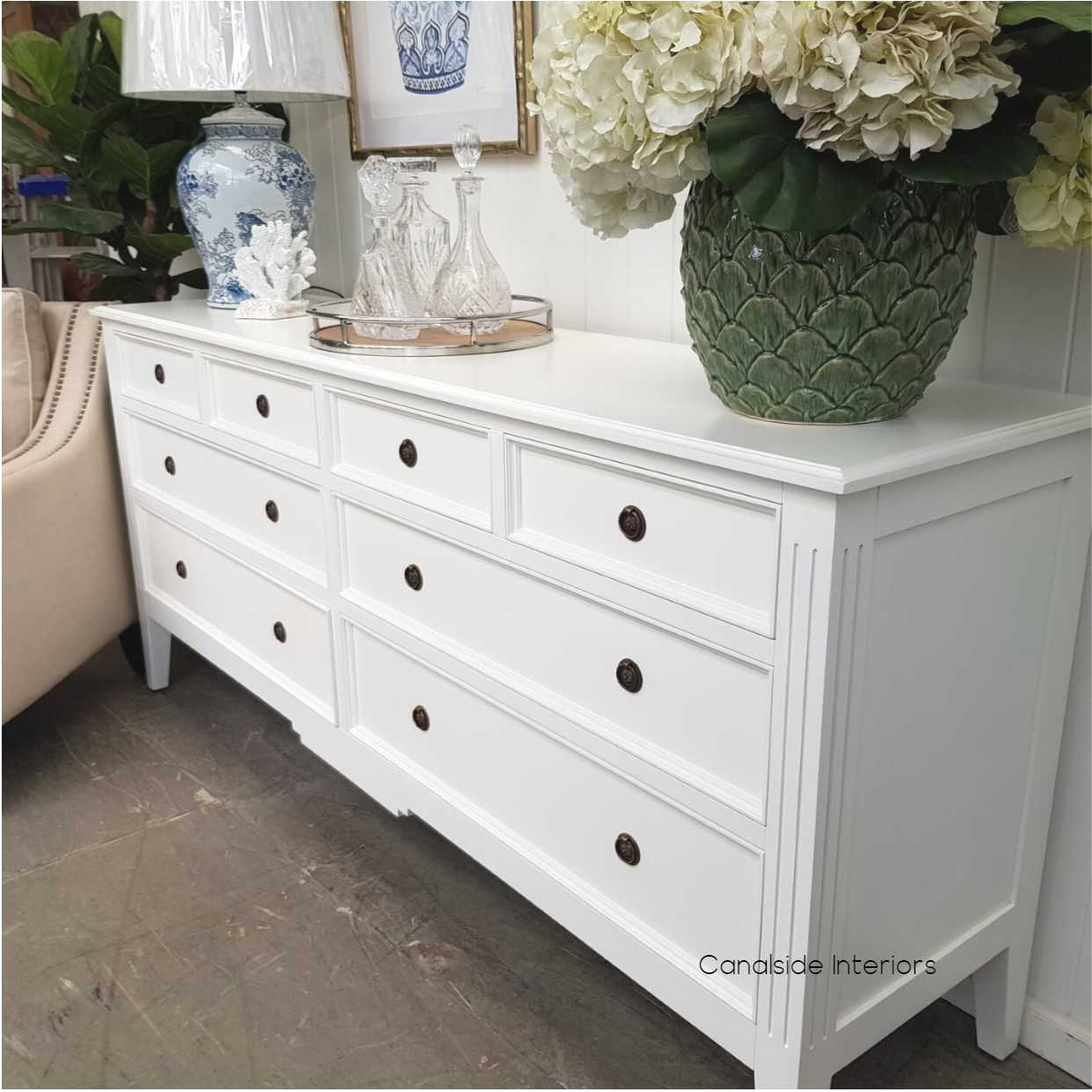 Peninsula Sideboard 8 Drawer White  LIVING Room, LIVING TV Media & Storage, TABLES Sideboards & Buffets, STORAGE, STORAGE Sideboards & Buffets