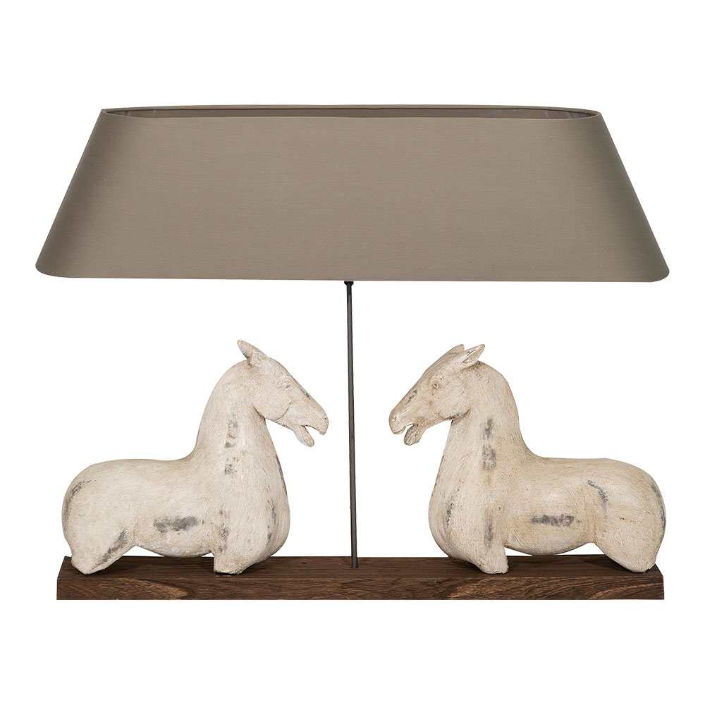 Ancient Equestrian Lamp - Canalside Interiors
