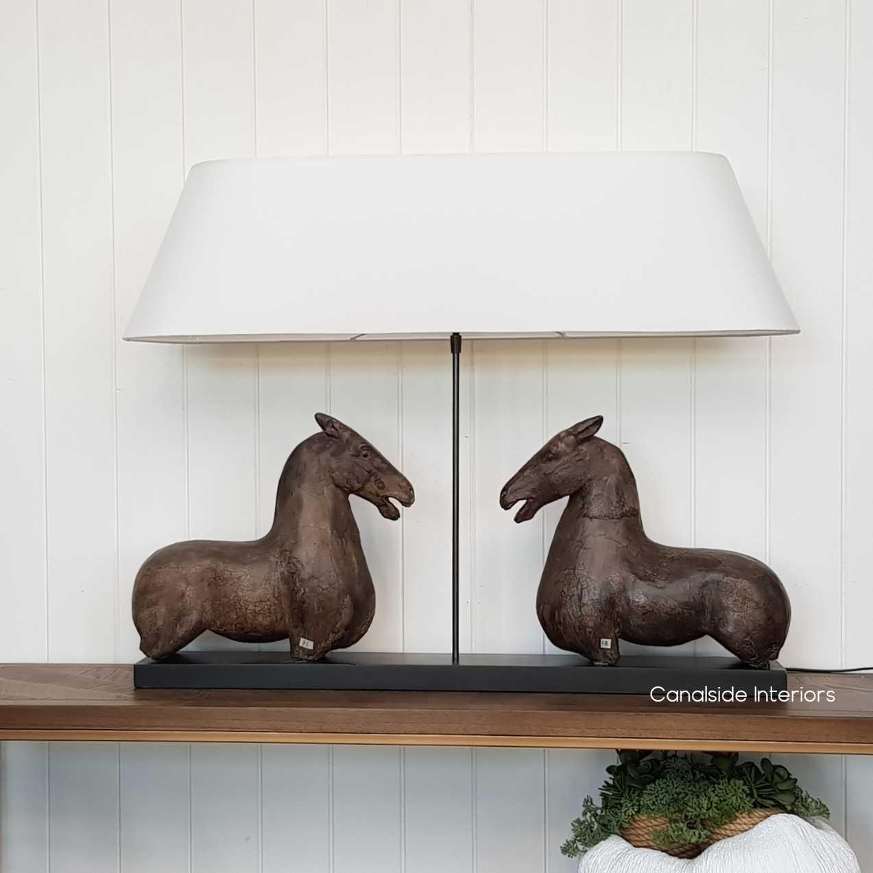 Ancient Equestrian Lamp - Canalside Interiors - Lamp - Horse - Horses - Lamps - hamptons - plantation - Light - Lighting Lights