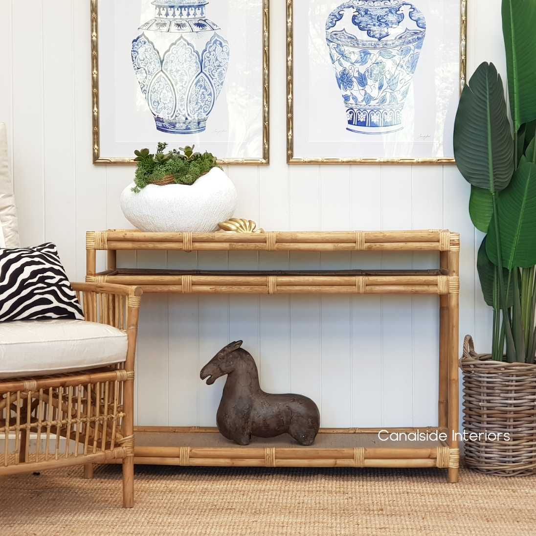 Raffles Cane Rattan Console, HAMPTONS Style, PLANTATION Style, LIVING Room, PLANTATION STYLE Rattan Island living, british colonial STORAGE Consoles Entryway Living Room Entry table