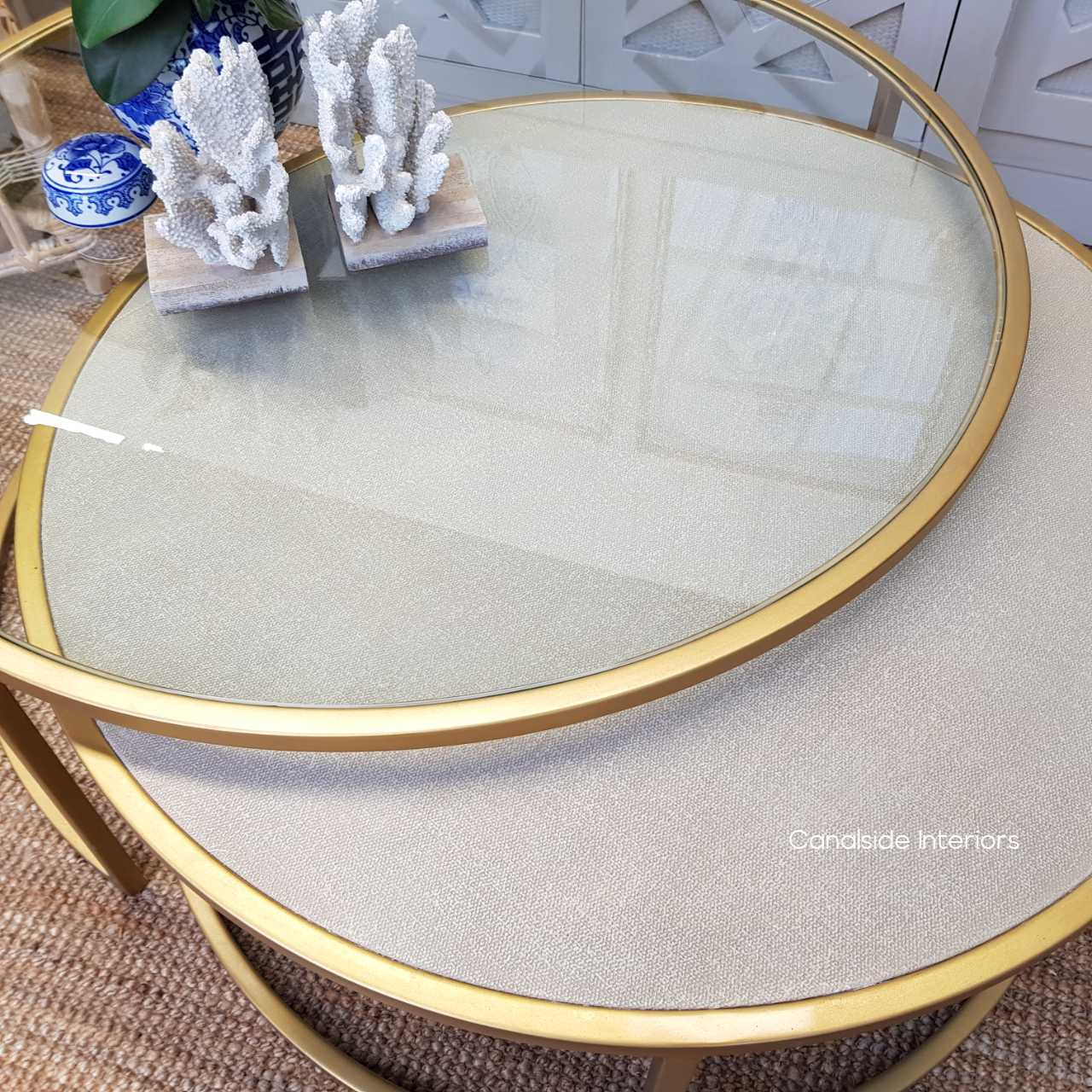 Knox Plantation Nesting Coffee Table Gold TABLES, TABLES Coffee Tables, LIVING Room, LIVING Coffee & Side Tables, PLANTATION STYLE