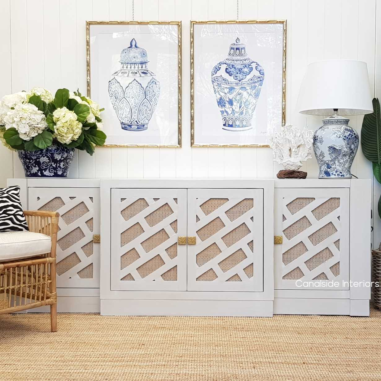 Brielle Botanica Sideboard  HAMPTONS Style, PLANTATION Style, LIVING Room, LIVING TV Media & Storage, TABLES Sideboards & Buffets, STORAGE, Sideboards & Buffets, Rattan, island style, chinoiserie, british colonial, coastal