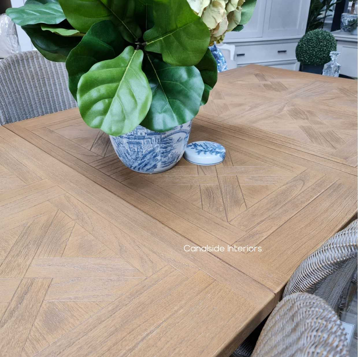 Balmoral Parquetry Double Extension Dining Table tables, extension tables, hamptons, hamptons table, provincial, plantation, dining tables, trestle base, dining room