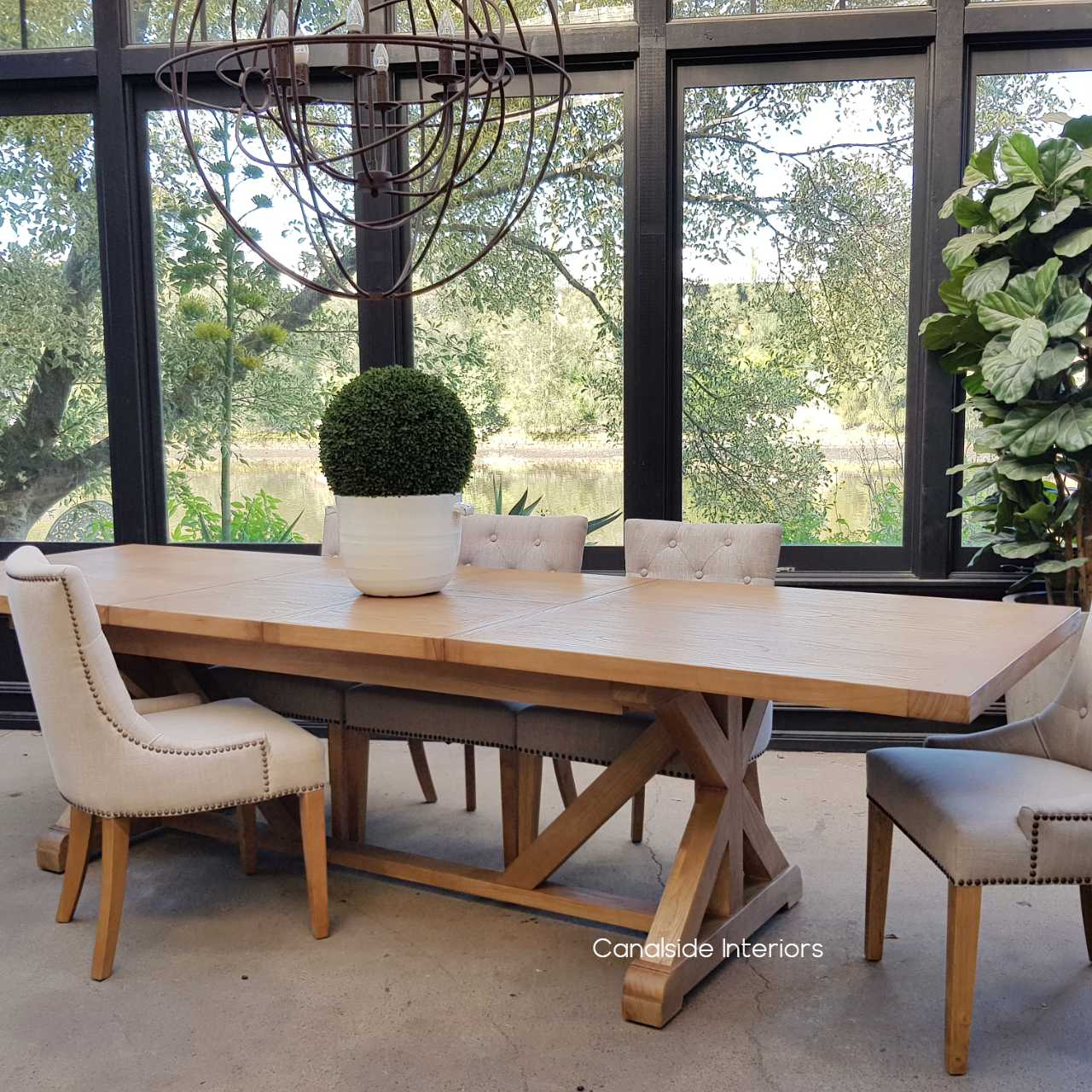 Harvest Double Extension Dining Table Sold Out Canalside Interiors