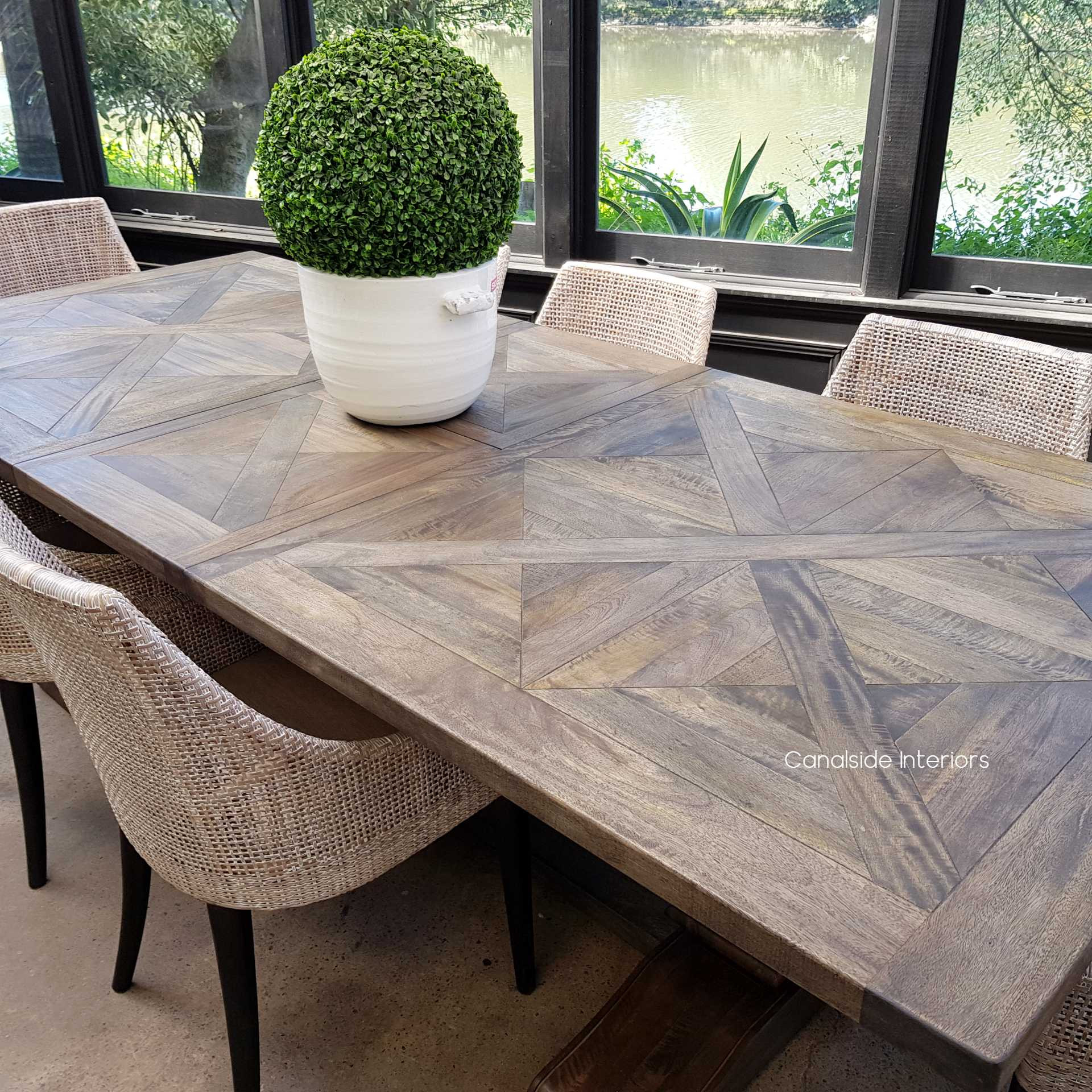 Bridgehampton Parquetry Double Extension Dining Table tables, hamptons, hamptons, hampton table, provincial, plantation, dining tables, trestle base, dining room