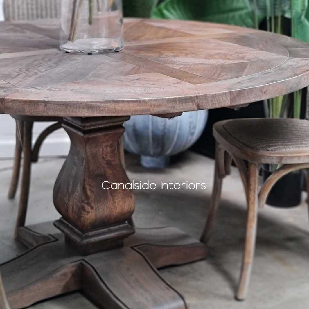 Hampton Bay Parquetry Dining Table tables, hamptons, hampton table, provincial, plantation, dining tables, trestle base, dining room
