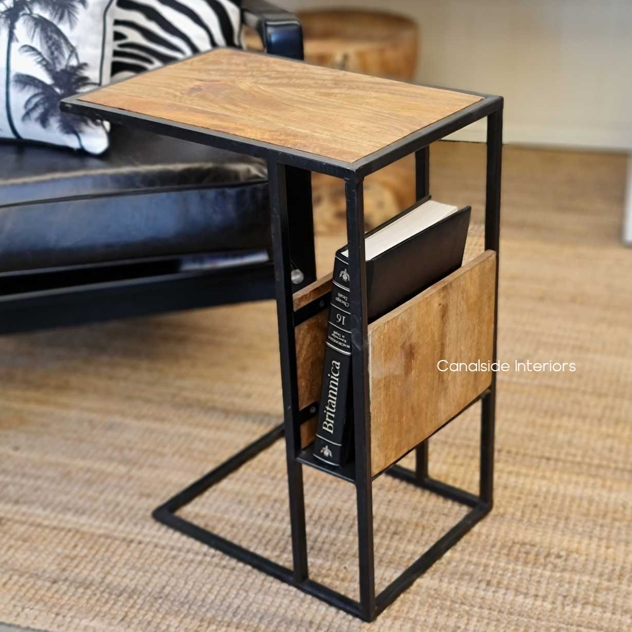 industrial laptop side table sidetable tables rustic mangowood loungeroom livingroom