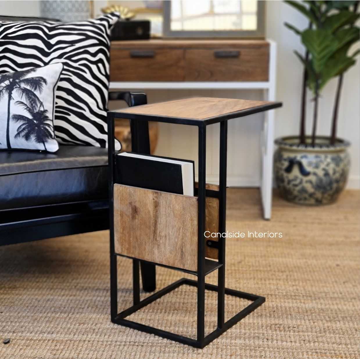 industrial laptop side table sidetable tables rustic mangowood loungeroom livingroom