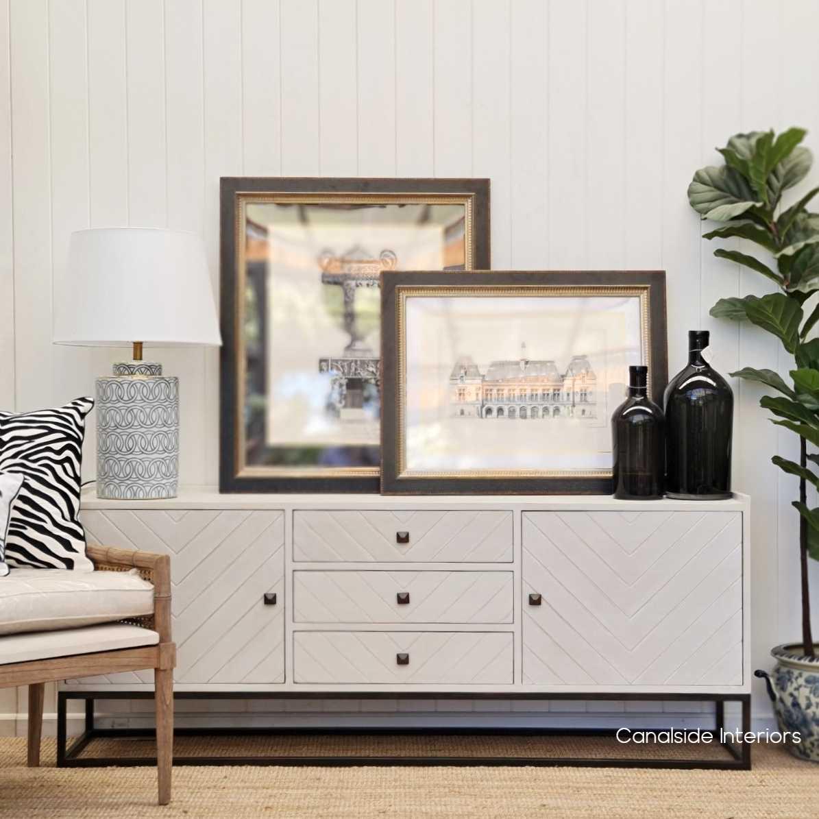 St Lucia Herringbone TV Sideboard Gold HAMPTONS Style, PLANTATION Style, STORAGE Living Room, Hamptons LIVING TV Media & Storage, TABLES Sideboards & Buffets, STORAGE, STORAGE Sideboards & Buffets