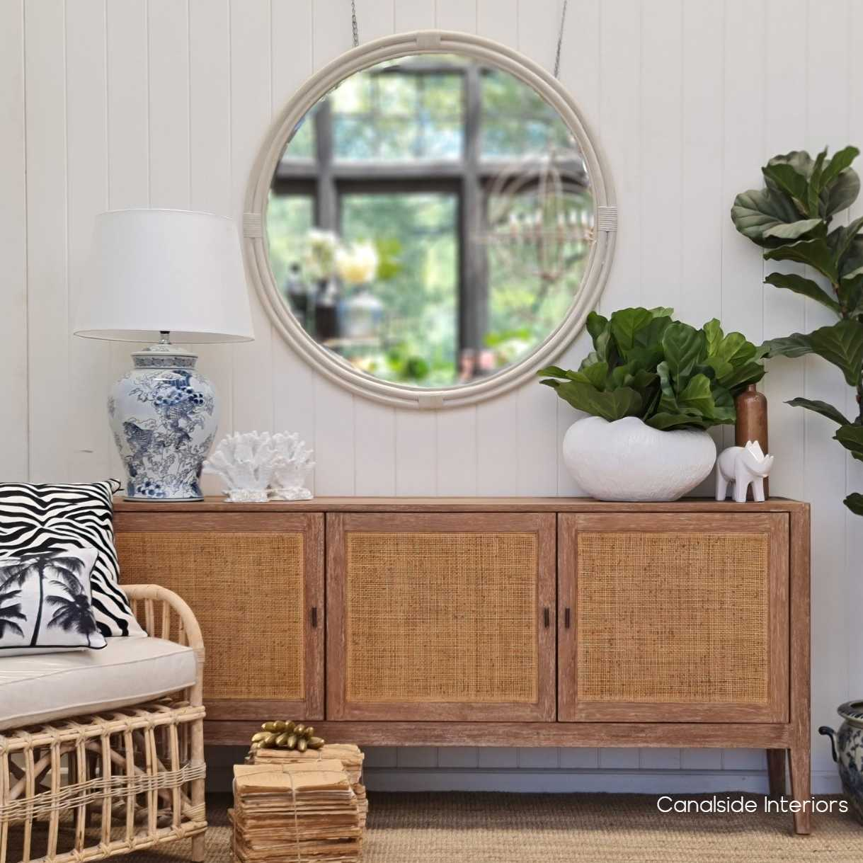 Pacifica Rattan TV Sideboard  Media Unit HAMPTONS Style, PLANTATION Style, LIVING Room, LIVING TV Media & Storage, TABLES Sideboards & Buffets, STORAGE, Sideboards & Buffets, Rattan, island style, chinoiserie, british colonial, coastal