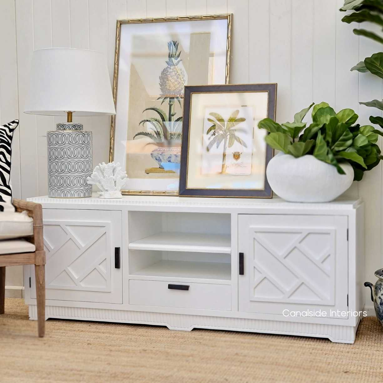 Ellery 2 Door TV Unit Sideboard White  HAMPTONS Style, PLANTATION Style, LIVING Room, LIVING TV Media & Storage, TABLES Sideboards & Buffets, STORAGE, STORAGE Sideboards & Buffets, PLANTATION STYLE Media Unit hollywood regency hollywood glam chinoiserie