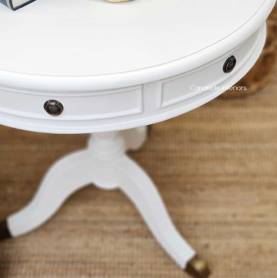 *Cobble Hill Round Hall / Side Table - Large - White - IN STOCK