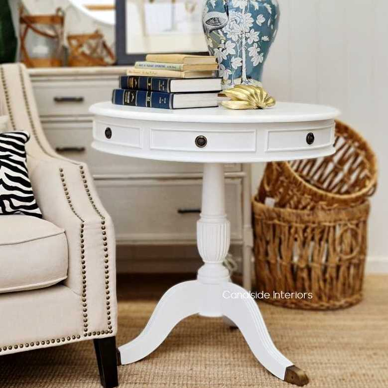 Cobble Hill II Round Side Table Distressed Black  FRENCH  FURNITURE, TABLES, HAMPTONS Style, PLANTATION Style, TABLES Side Tables, LIVING Room, LIVING Coffee & Side Tables, hall table entryway entrytable