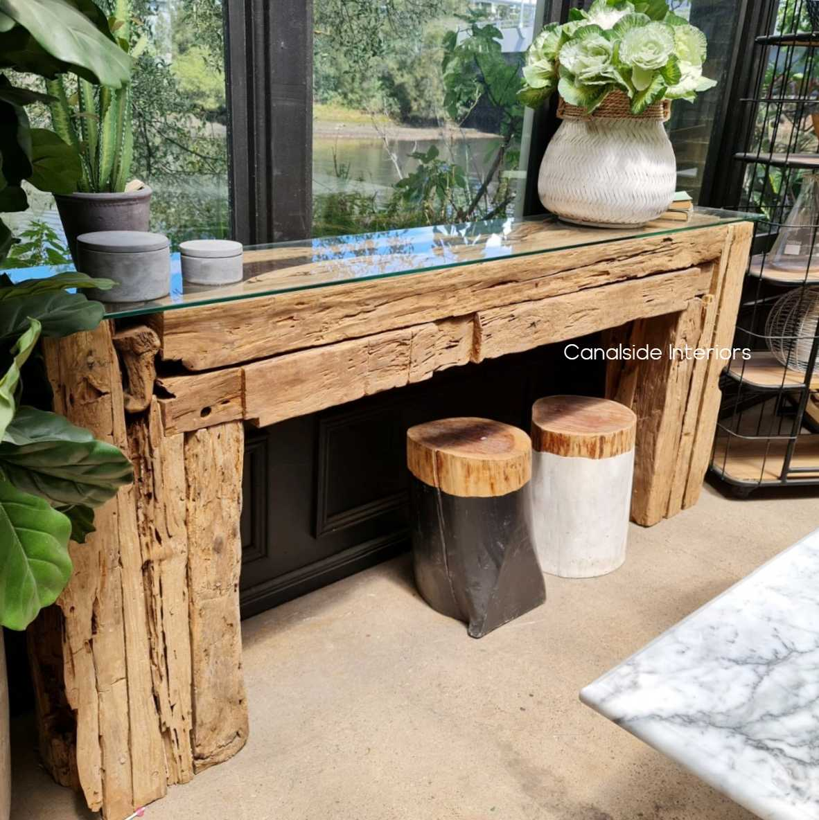 Console, Reclaimed Wood, Reclaimed Console, Recycled, Wood, timber, driftwood, console table, industrial, boho, rustic, slab, industrial