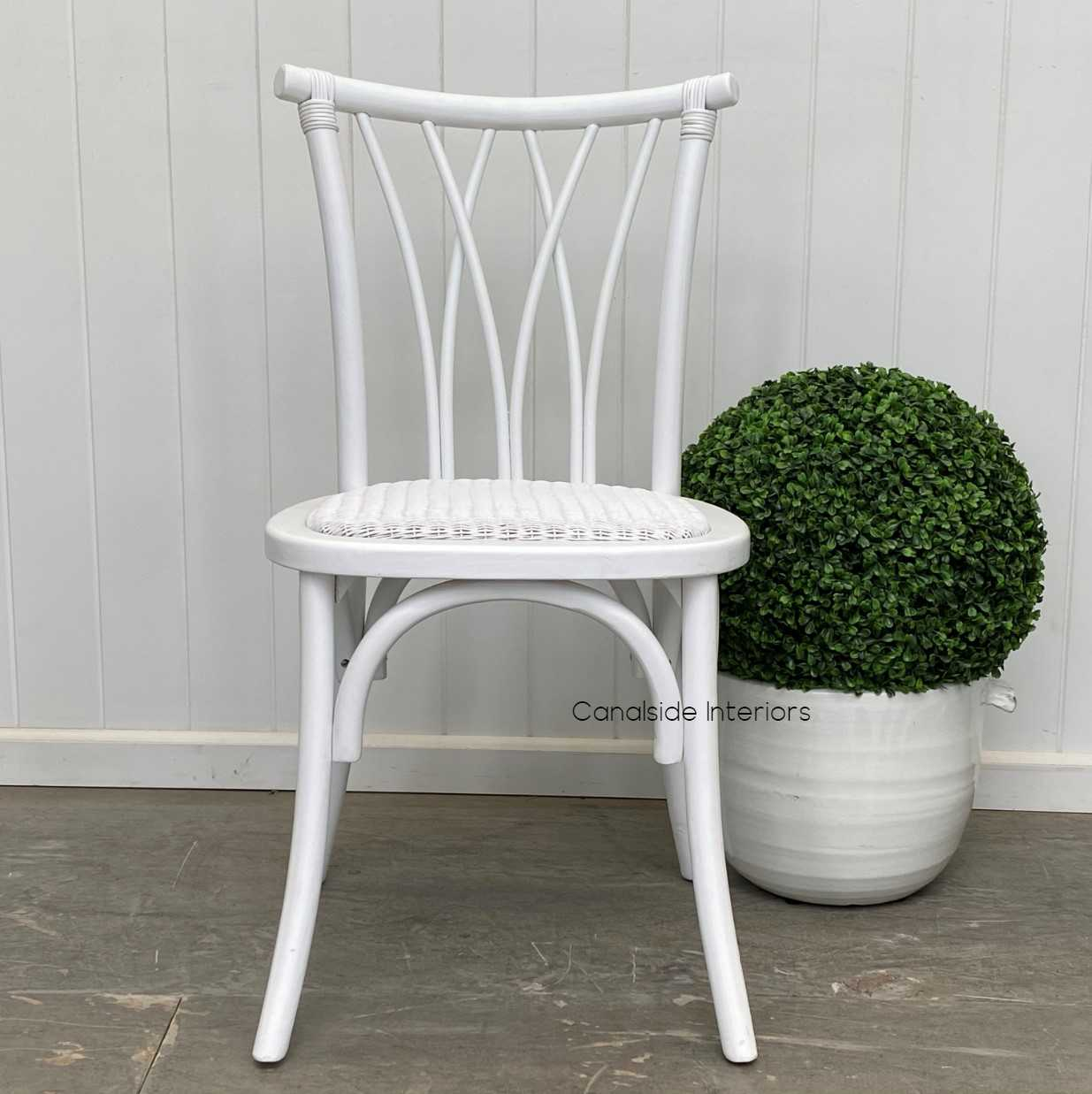 Botanica Chair Distressed White Dining, CHAIRS, CAFE FURNITURE, HAMPTONS Style, PLANTATION Style, CHAIRS Dining, CAFE FURNITURE Stools & Chairs, PLANTATION STYLE