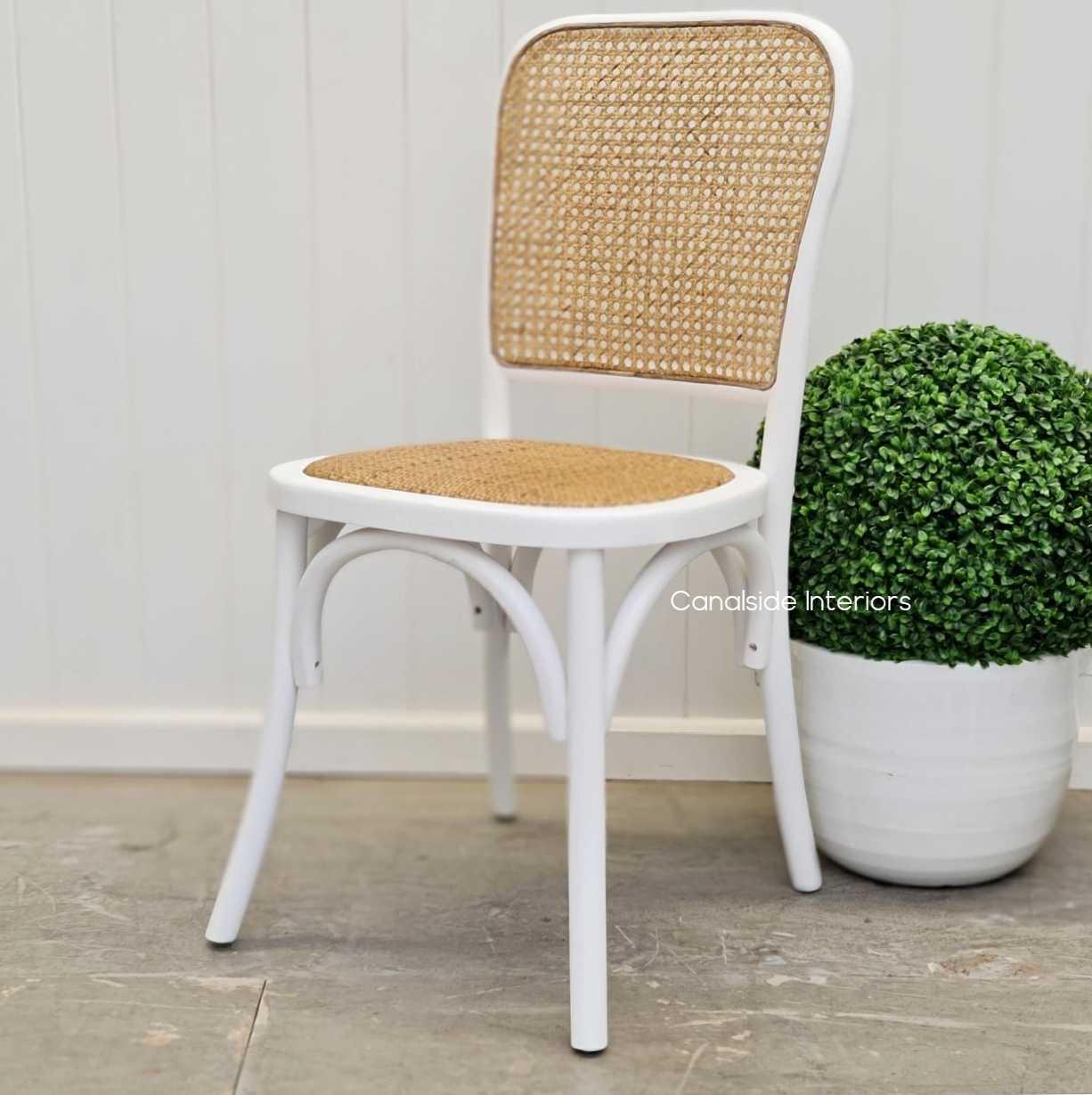 Saxon Bentwood Chair Distressed White  Dining, CHAIRS, CAFE FURNITURE, HAMPTONS Style, PLANTATION Style, CHAIRS Dining, CAFE FURNITURE Stools & Chairs, PLANTATION STYLE