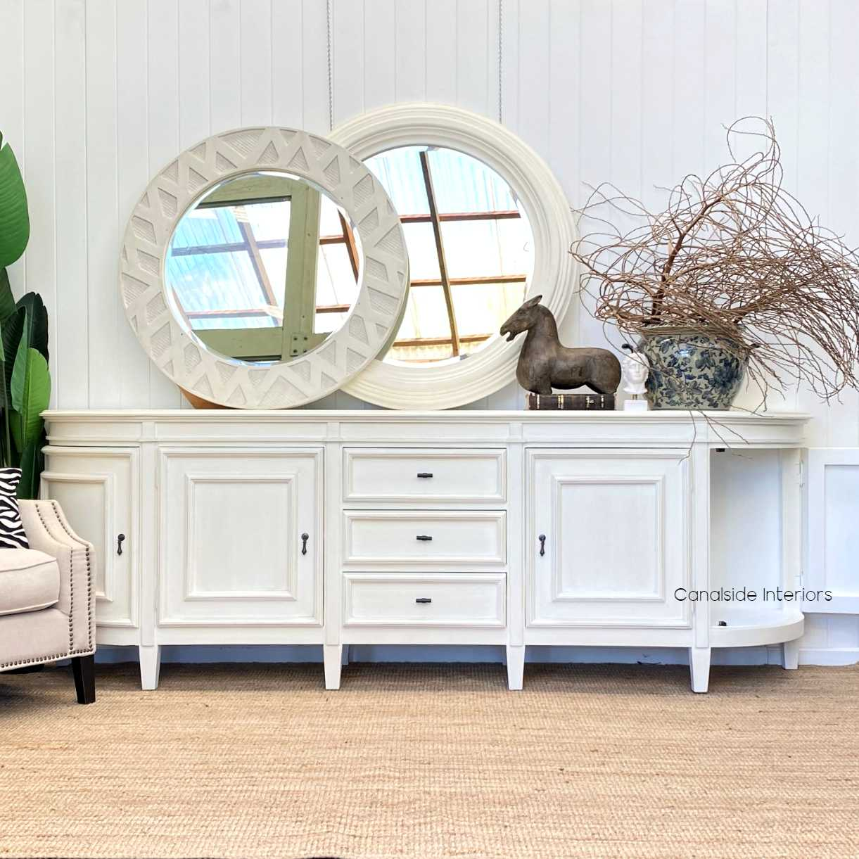 Francia Sideboard Distressed CharcoalBlack FRENCH  FURNITURE, HAMPTONS Style, PLANTATION Style, LIVING TV Media & Storage, TABLES Sideboards & Buffets, STORAGE, STORAGE Sideboards & Buffets