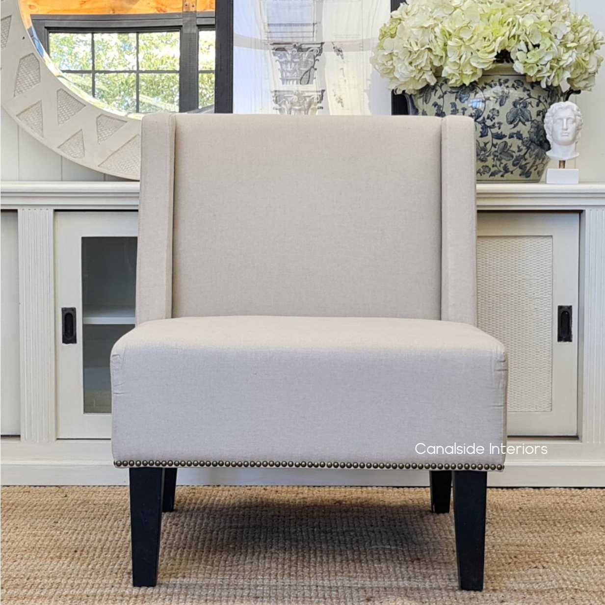 Ocon Slipper Occasional Armchair  CHAIRS, HAMPTONS Style, PLANTATION Style, CHAIRS Lounge, LIVING Room, LIVING Chairs