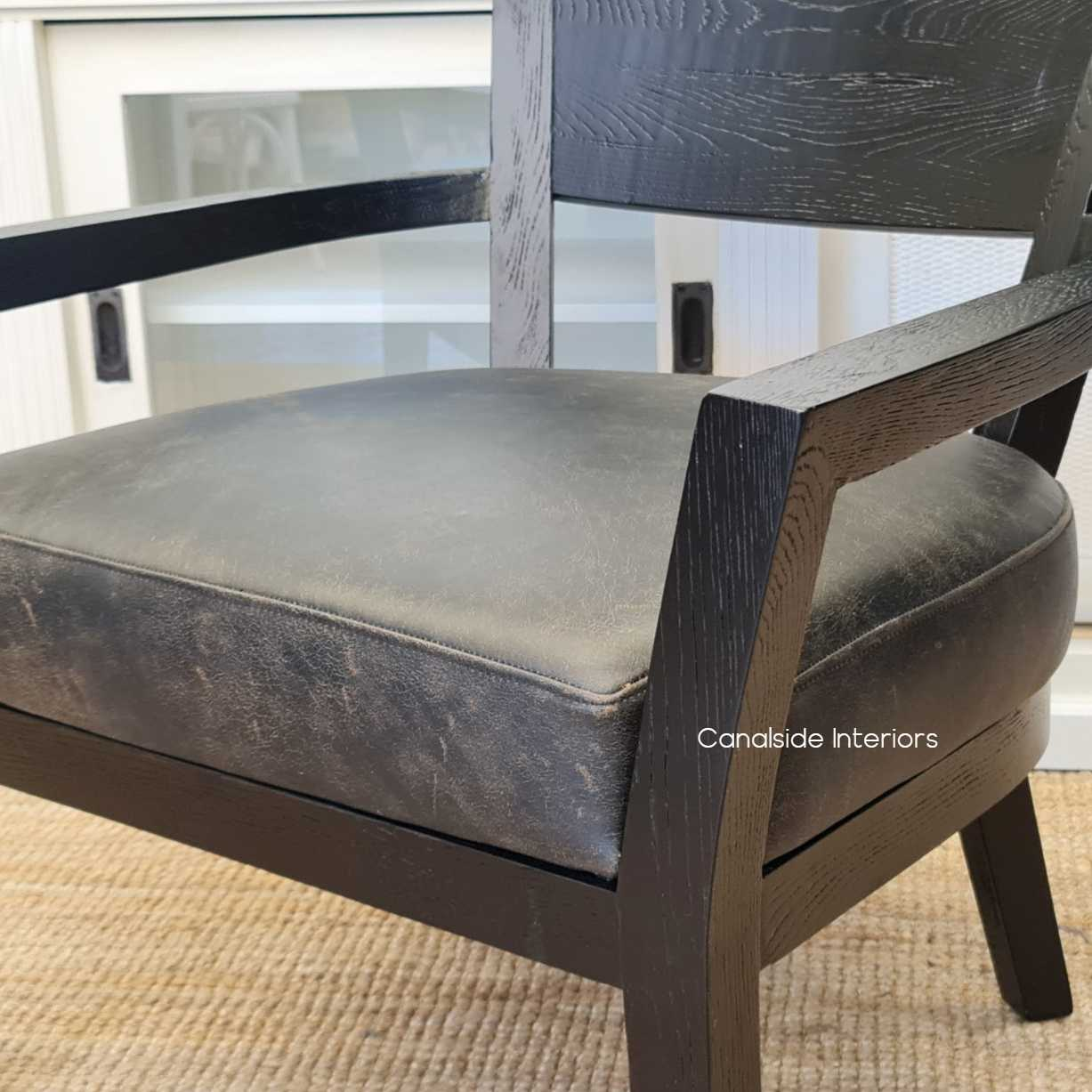 Vettel Aged Leather Armchair Espresso Leather Distressed Chair Chairs Armchairs Living Room Lounge Room Family Room Mancave Leather Chair Occasional Modern Contemporary Hamptons Masculine