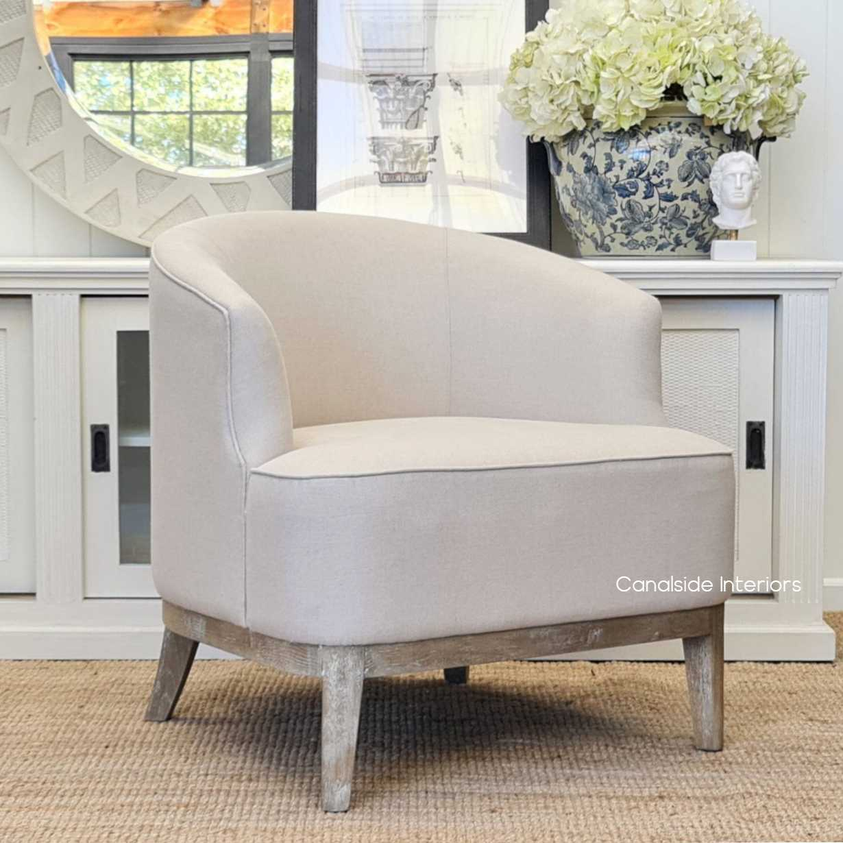 Hamilton Occasional Tub Armchair  CHAIRS, HAMPTONS Style, PLANTATION Style, CHAIRS Lounge, LIVING Room, LIVING Chairs, bedroom, tub chair