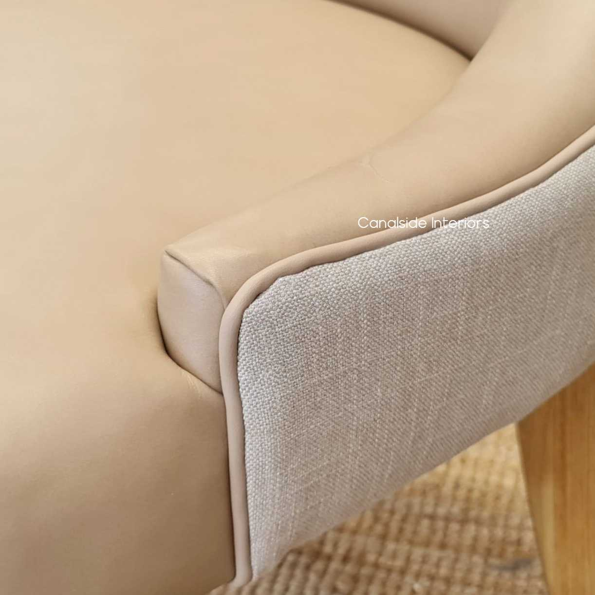 Aston Leather Linen Dining Chair natural legs base, CHAIRS, HAMPTONS Style, PLANTATION Style, CHAIRS Dining, kitchen, dining room, classic, timeless