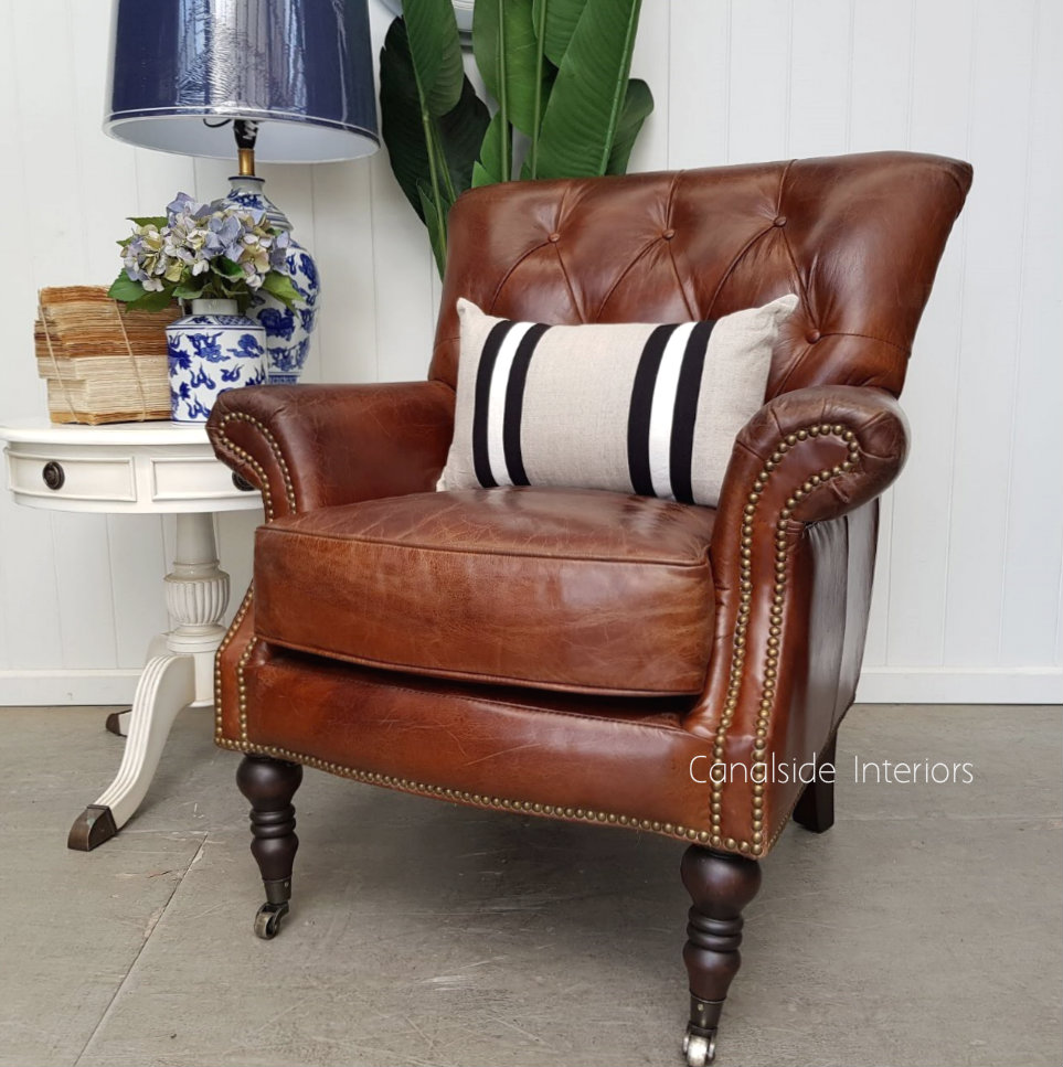 Knox Aged Leather Armchair TV, Lounge & Entertainment, CHAIRS, AGED LEATHER, CHAIRS Lounge, LIVING Room, LIVING Chairs