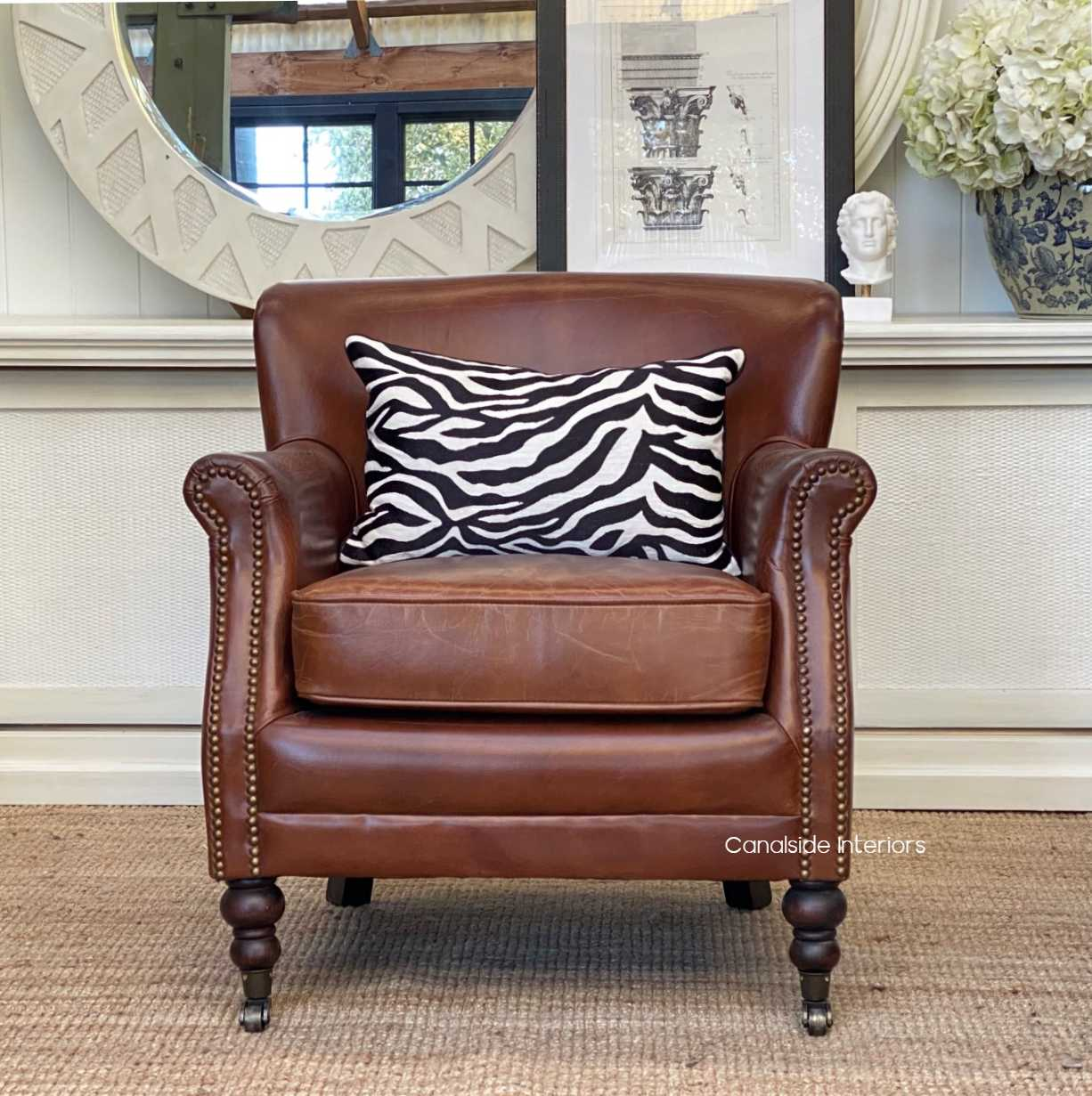 Doctus Aged Leather Armchair AGED LEATHER