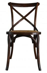 Cross Back Chair - Walnut