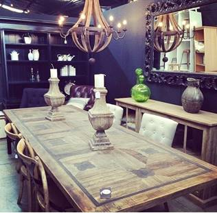 Greenwich Court Dining Table INDUSTRIAL RUSTIC Style, TABLES, HAMPTONS Style, PLANTATION Style, TABLES Dining Tables