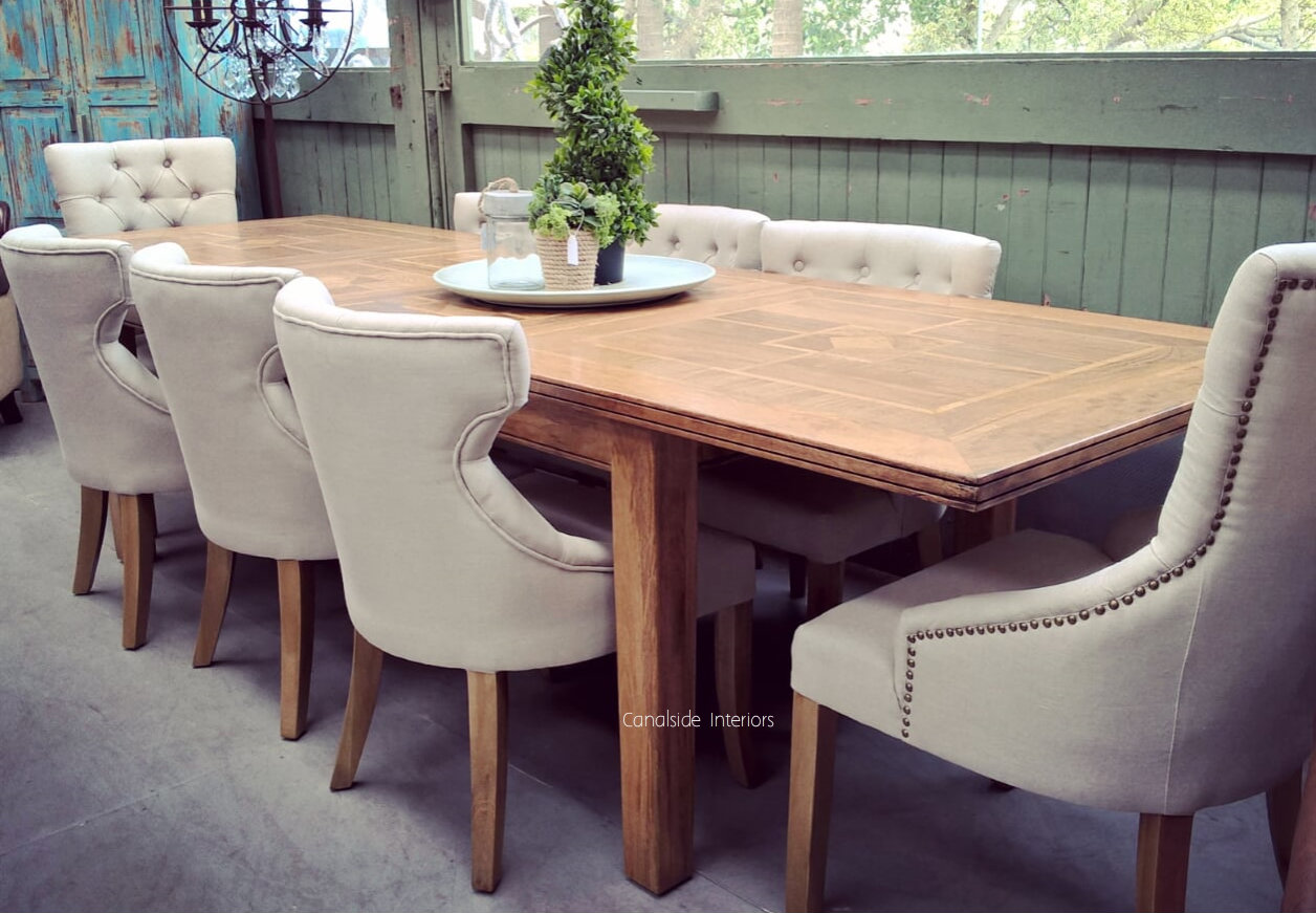 Florence Marble Inlay Double Extension Dining Table DOUBLE EXTENSION 3.1M  for April TABLES, HAMPTONS Style, PLANTATION Style, TABLES Dining Tables